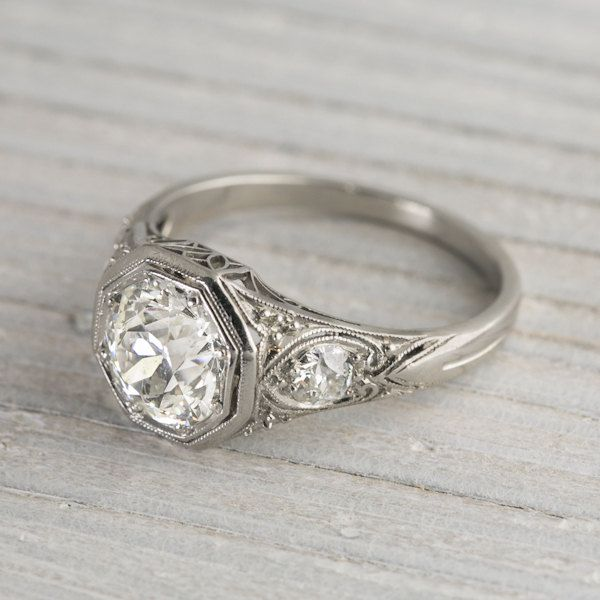 1 65 Carat Diamond Vintage Engagement Ring