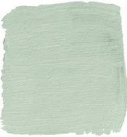 Mint green paint color for the babyroom with browns