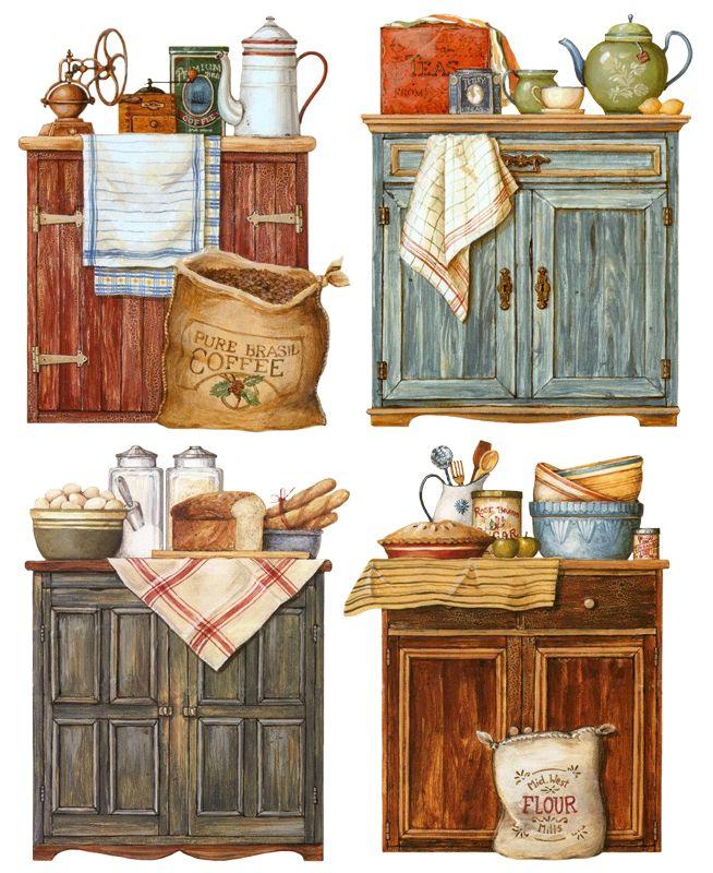 Рисунки для декупаж мебели