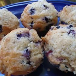 Healthier To Die For Blueberry Muffins Allrecipes.com