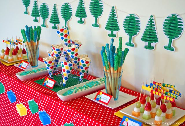 Lego themed 5th birthday party planning ideas decor cake for 5th birthday decoration ideas