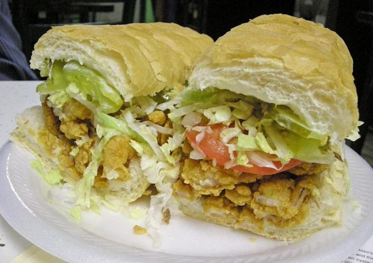 Shrimp Po Boy Sandwich