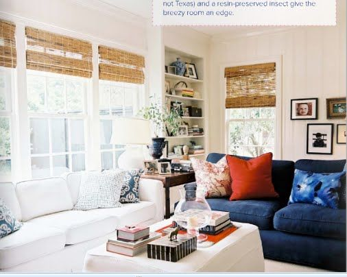 Navy and orange living room living room color ideas for Orange and blue living room ideas