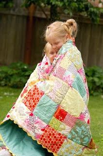 cute quilt with ric rac edge