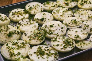 recipe for onion gratin with rosemary and thyme from kalyn s kitchen