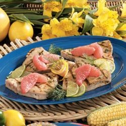 Grilled Tuna Steaks with Grape and Caper Salsa | Recipe