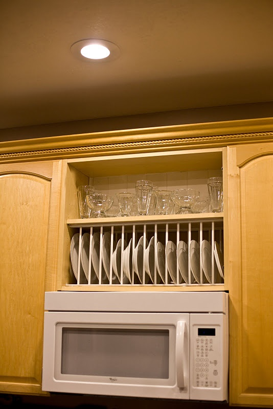 Plate Rack Over Kitchen Cabinet