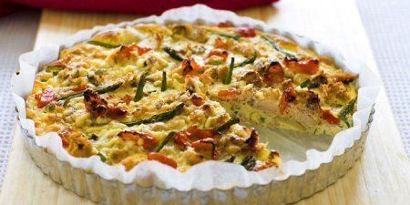 Asparagus Frittata @2 Cookin' Mamas Just substitute manchego cheese ...