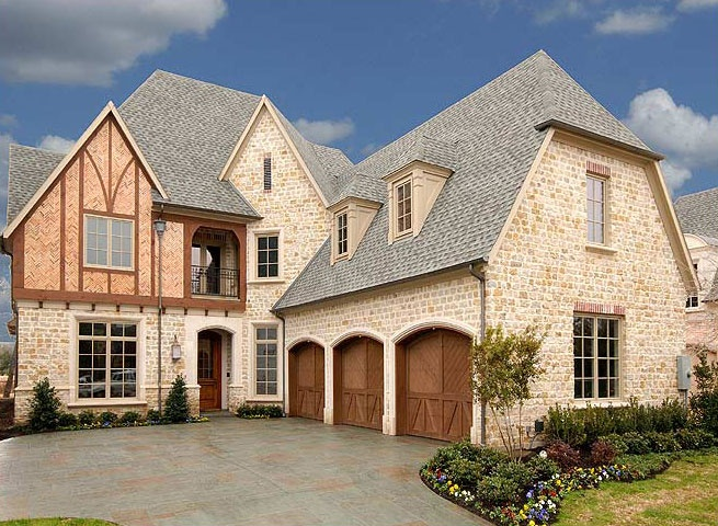 Tudor Style Stone Brick Custom Home Homes The English