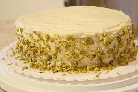Pistachio Cake with Honey Butter cream   cookies/desserts---2   Pinte ...