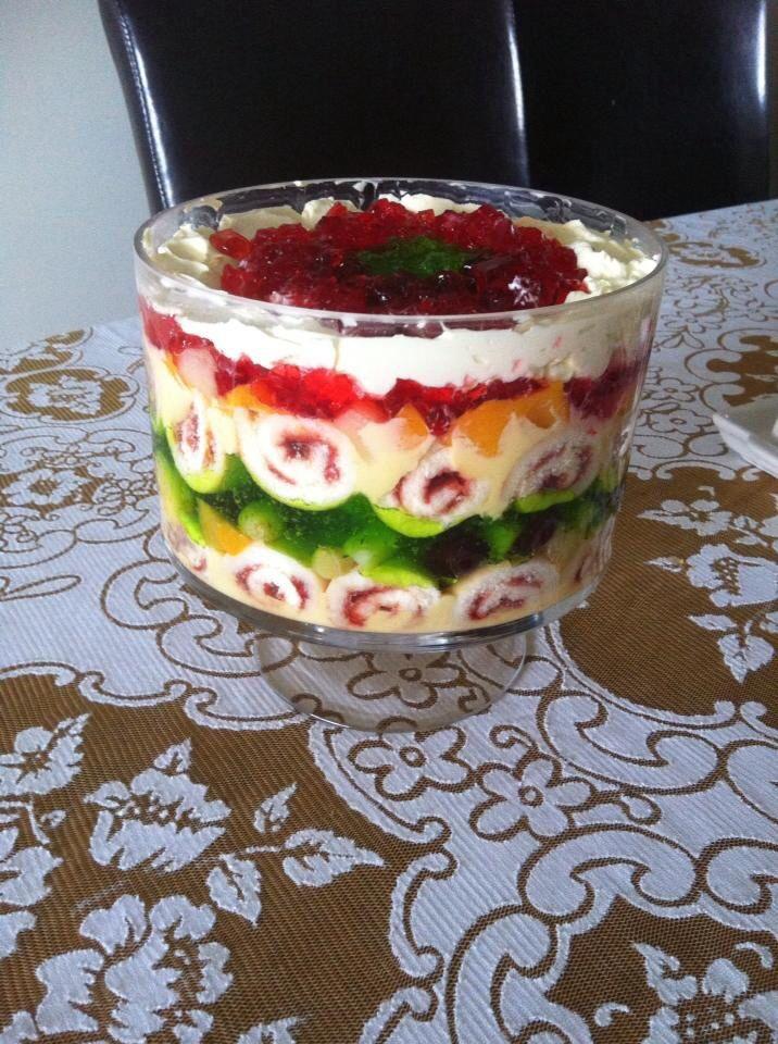 how to make christmas trifle
