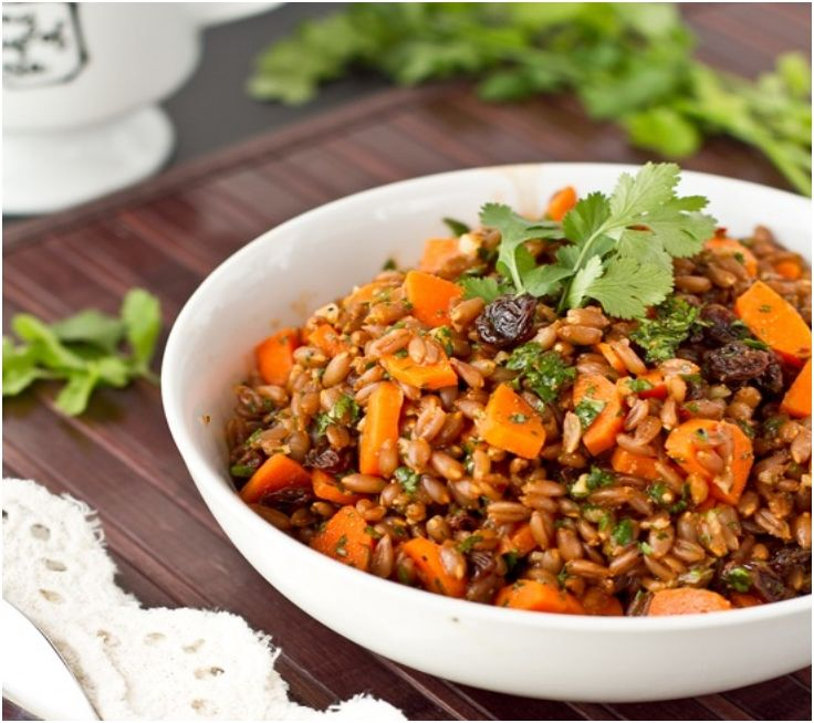 Raisin Spelt Berry Salad With Cumin And Cilantro Recipes — Dishmaps ...