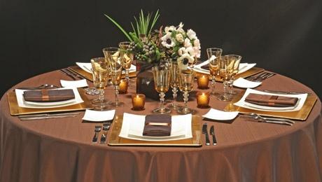 Decoration table mariage chocolat et ivoire id es et d - Art de la table decoration ...