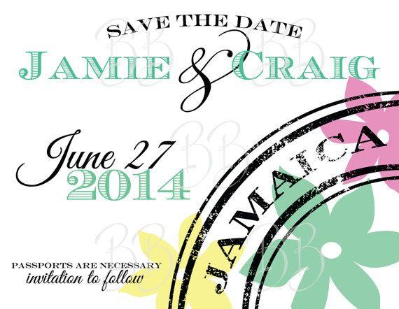 Destination Wedding Save The Date Magnet 04 Jamaica Mexico Where