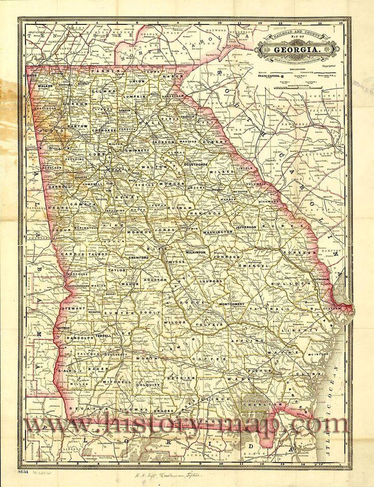 Georgia Railroad Map  Maps  Pinterest