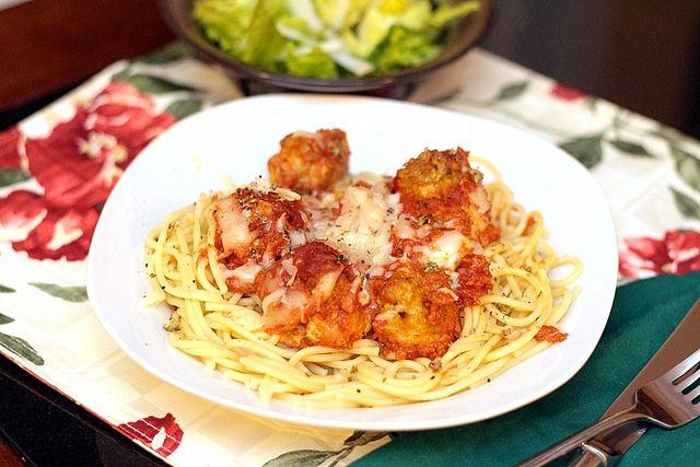 CHicken Parm Meatballs | Pasta | Pinterest