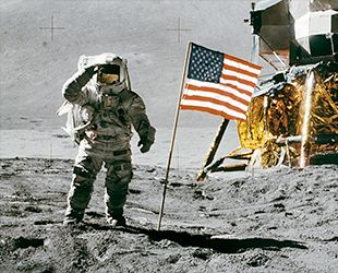 moon flag from earth