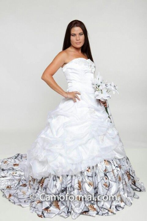 Snow camo dress wedding stuff pinterest for Snow camo wedding dresses