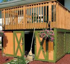 Loren: Under deck storage sheds