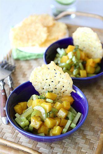 Dubliner Cheese & Cayenne Crisps with Golden Beet & Basil Salad | Rec...