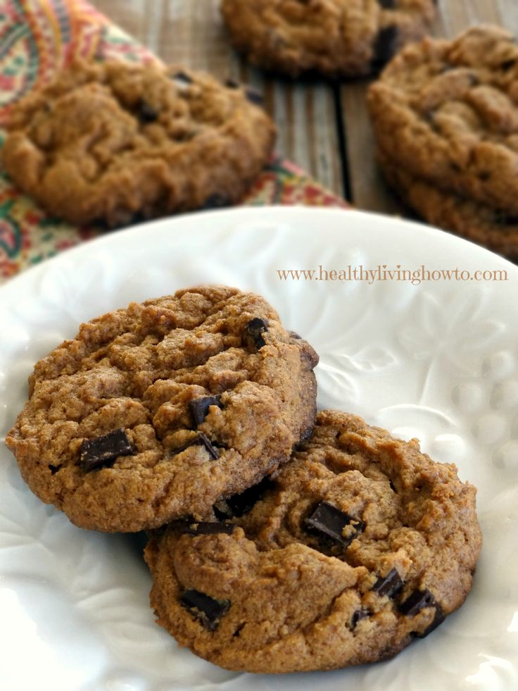 Almond Butter Chocolate Chip Cookies Prep Time: 2 minutes Cook Time ...