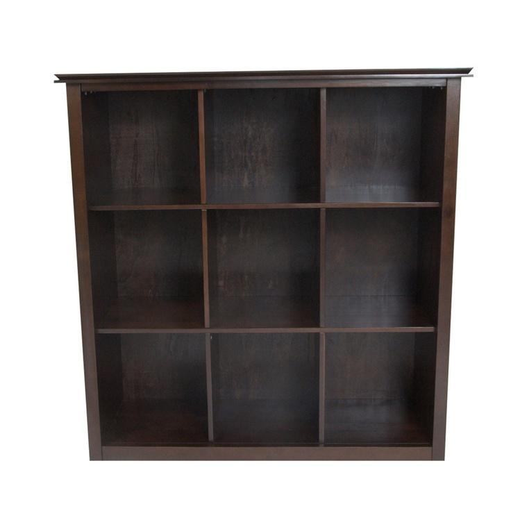 Stratford Espresso Brown 9 Cube Bookcase Storage Unit