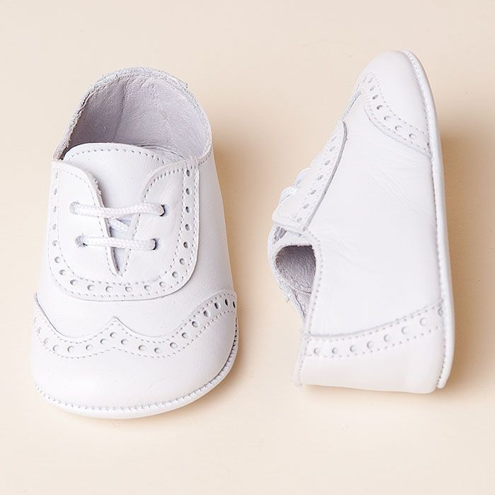 Boys White Wingtip Shoes