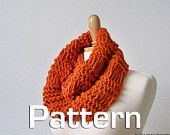 Knitted Cowl Pattern, Infinity Scarf Pattern, Neck Warmer Pattern, Knitted Scarf Pattern, Knit Cowl Pattern, DIY Tutorial