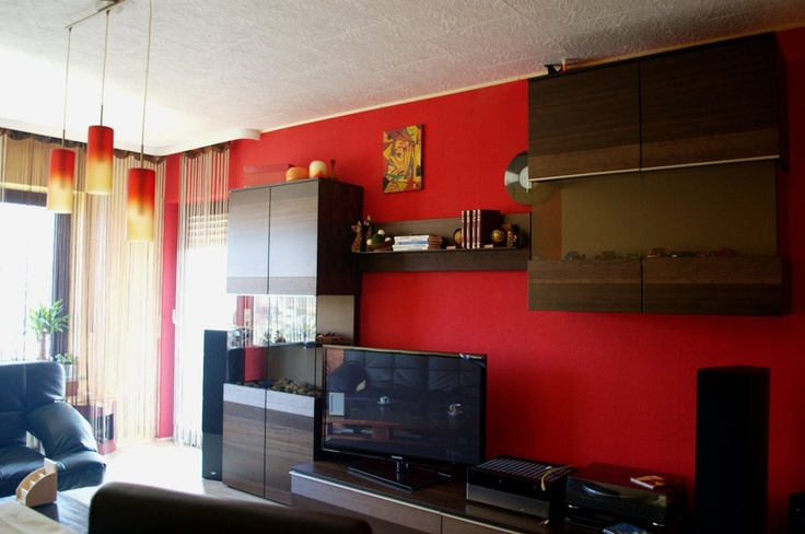 Living Room In Red And Yellow Design Diy
