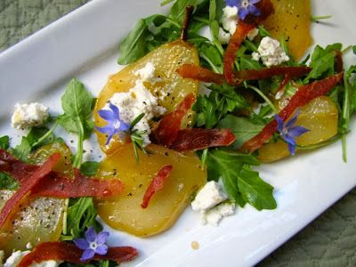 Warm, caramelized pears with rosemary, creamy French feta cheese, and ...