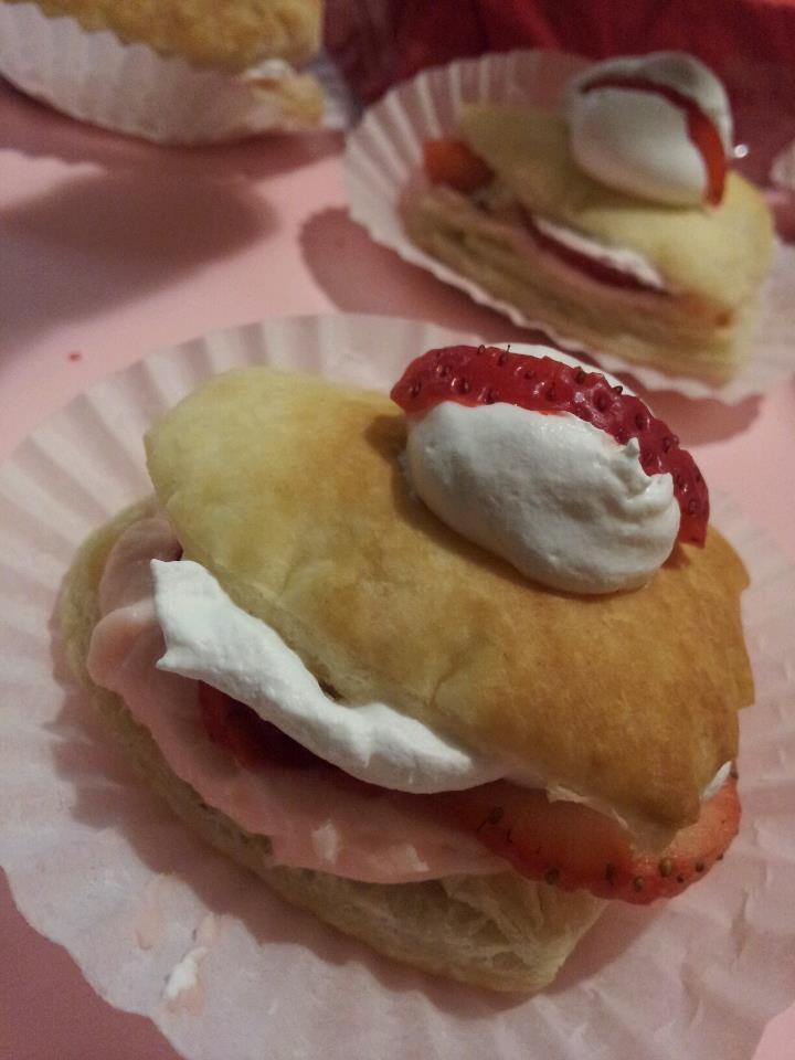 strawberry napoleons!