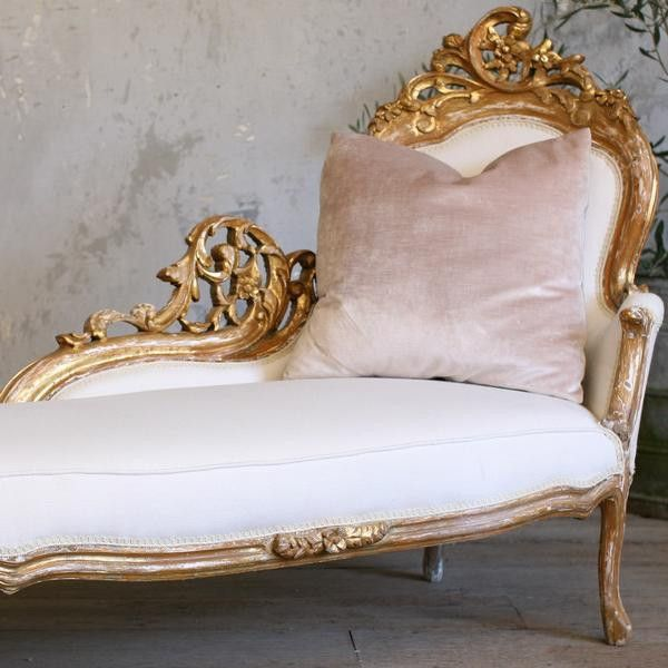 Vintage fainting couch inspiration for the new studio for Antique fainting couch chaise