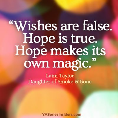 from DAUGHTER OF SMOKE AND BONE by Laini Taylor via YASeriesInsiders.com