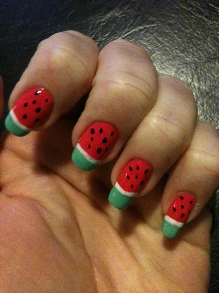 watermelon | Nail Art - Natural Nails | Pinterest