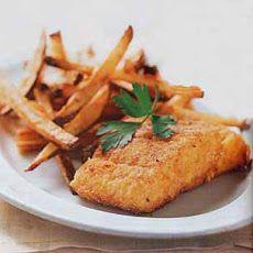 Crispy Oven-Fried Cod Recipe | Tasty Food | Pinterest