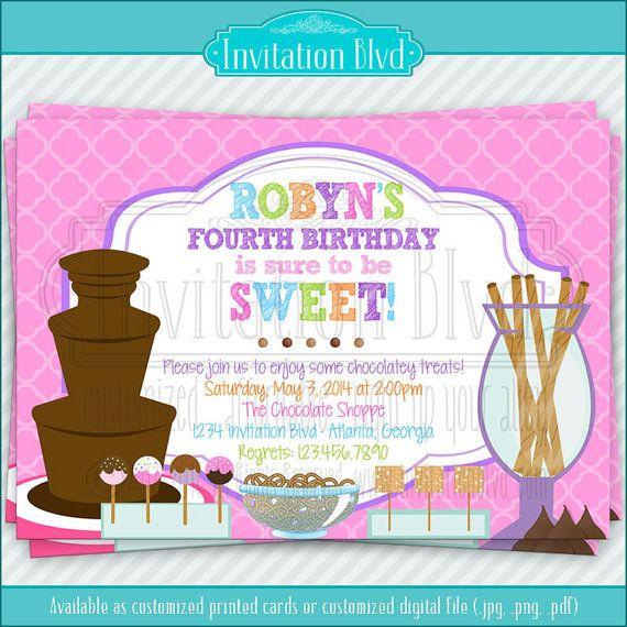 Chocolate Fondue Party Invitation Wording