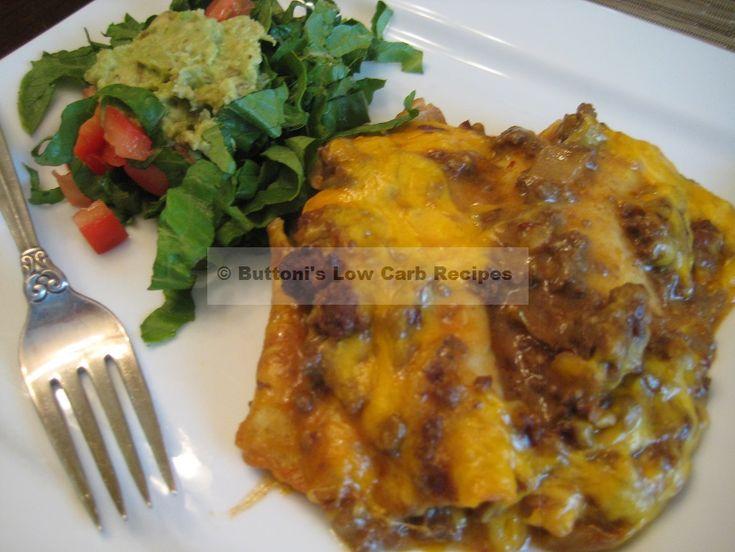 Tex-Mex Beef Enchiladas | Low carb meals | Pinterest