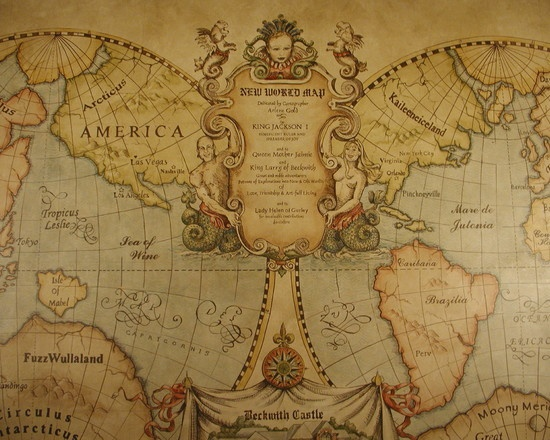 Old world map mural old world maps pinterest for Antique map mural