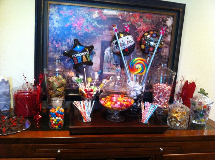 Graduation Candy Table   Party Ideas and more recipes   Pinterest