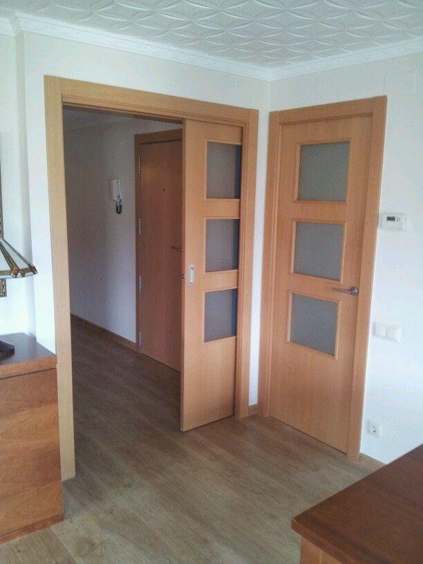 Puerta corredera krona 120cm luz carpinteria ebanisteria pinterest - Puerta corredera 120 cm ...