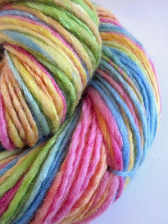Handspun Yarn : Handspun yarn uk knitting supplies merino and silk by thefibretree, ? ...