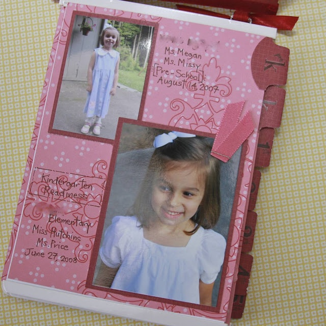 First day of school memory book