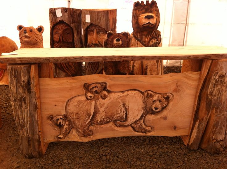 Chainsaw carved bar pictures pinterest