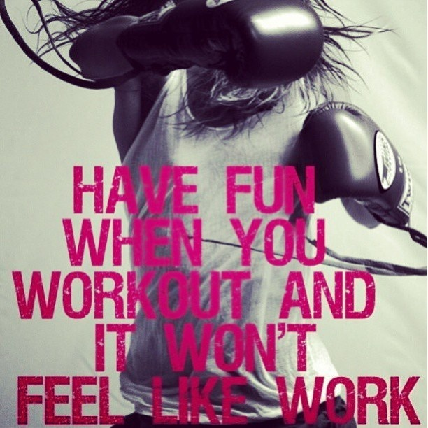 So true. Find a workout that challenges you, but you love at the same time and you are more likely to stick with it.