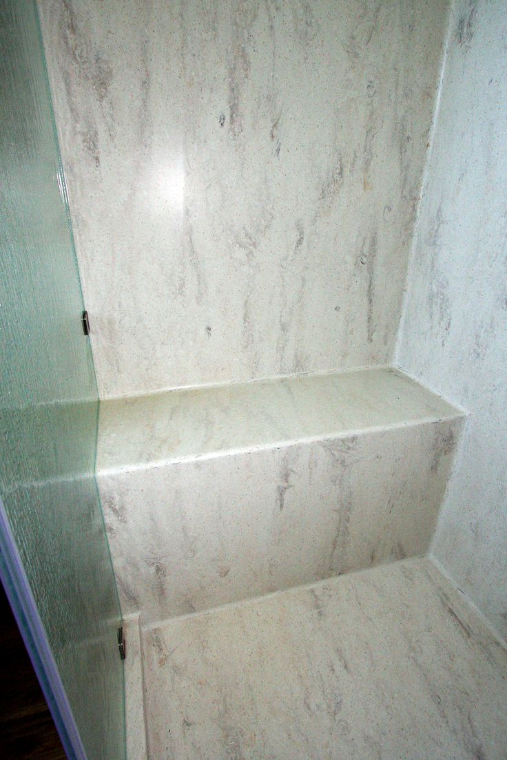 Corian Seamless Shower Bench Amp Pan Kitchens And Baths By