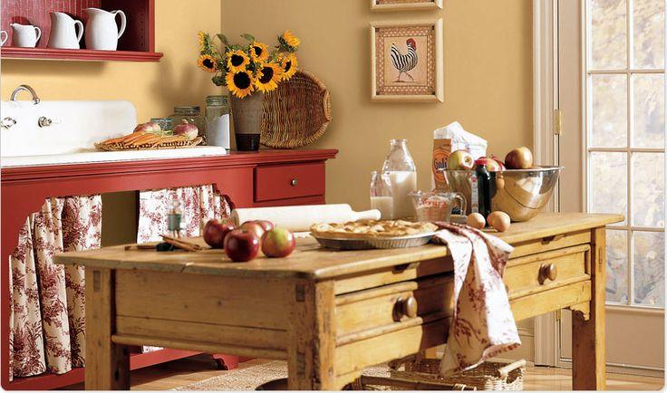 Cozy Country Kitchen Kitchens I Adore Pinterest