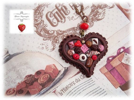 valentine heart necklace craft