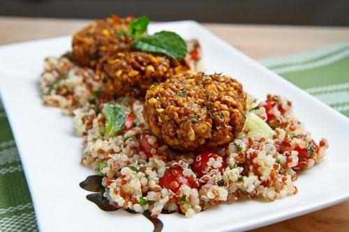 Ground Turkey And Quinoa Patties With Mint, Cumin, And Yogurt-Tahini ...