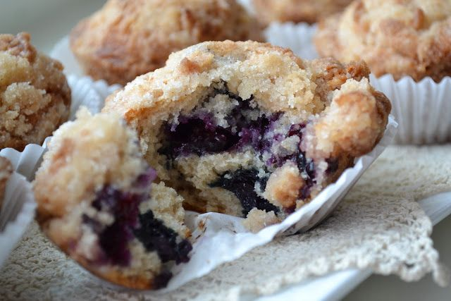 Blueberry Crumb Muffins | A Piece of Cake | Pinterest