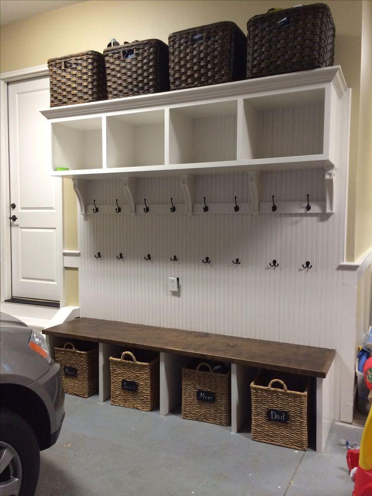 Mudroom mudroom pinterest for Garage mudroom plans
